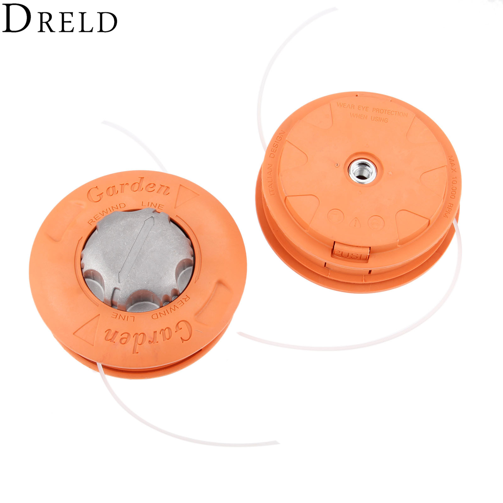 DRELD Universal Bump Feed Line Trimmer Head Aluminium Strimmer Head Grass Brush Cutter Accessory M10 Left Hand Garden Tool Parts цена