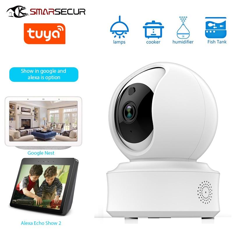 SMARSECUR Auto-tracking WiFi IP Camera 1080P Home  Security Mini Camera Night Vision Tuya Smart Life