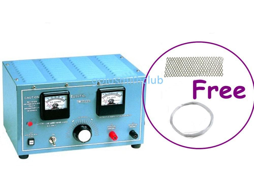 Outils de bijouterie Rectifer + (gratuit) 1 pc maille de titane & 1 pc Condiut, outils de galvanoplastie de bijoux, redresseur de bijoux