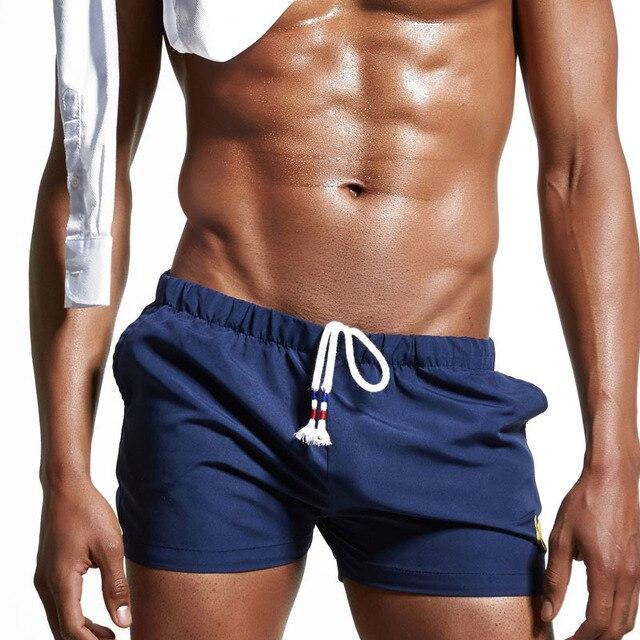 d2f3de2e0e Wade Sea Men's Swimwear Man Swim Beach Board shorts swim trunks Swimsuits Bathing  Suits Men Swimming Boxer Surf Wear Gay