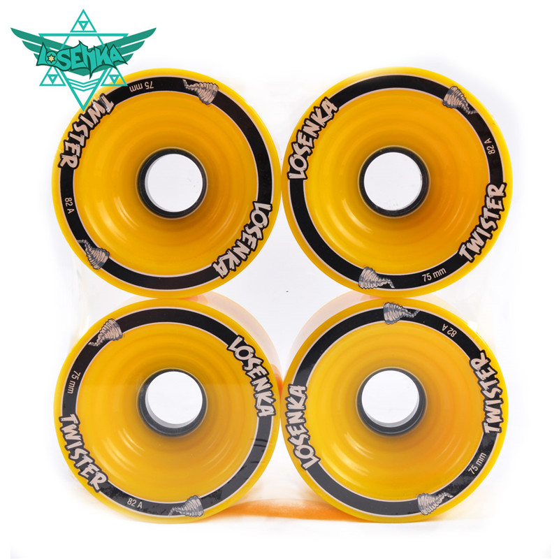 [75mm*56mm 82A] 4 Pcs/Lot Original Losenka Durable PU Wheel For Long Skateboard Downhill Braking, Large Skate Board Wheels
