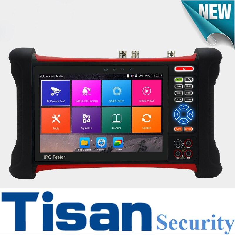 New H.265 4K 8MP Camera Tester IP SDI TVI CVI AHD CVBS 6 in 1 CCTV Tester with Digital Multi-meter ,Cable tracer ,IP tester