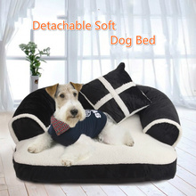 Winter British Style Pet Dog Bed Warm House Soft Cozy Material Nest Baskets Washable Breathable Kennel For Cat Puppy