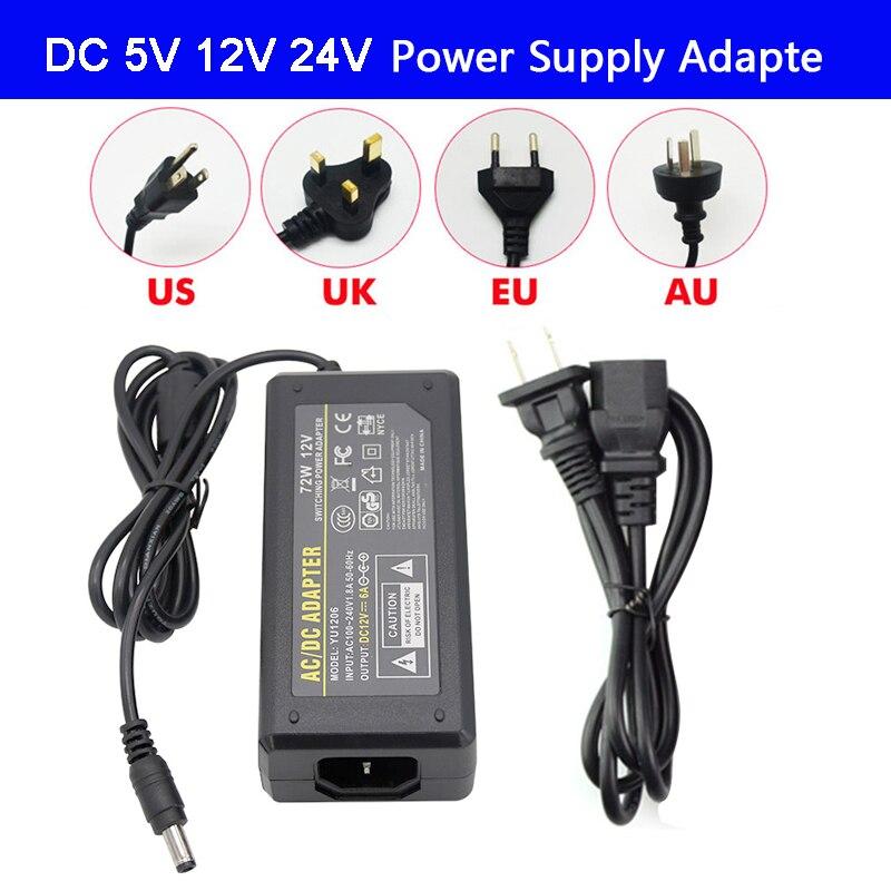 Fonte de alimentação do adaptador do diodo emissor de luz dc5v/dc12v dc24v 1a 3a 5a 7a 8a 10a para a lâmpada de tira conduzida que ilumina a tomada do motorista de energia do diodo emissor de luz