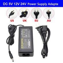 Alimentation électrique adaptateur LED pour bande lumineuse led, avec prise alimentation électrique led, dc 5v/dc 24v, 1A 2A 3A 5A 7A 8A 10a