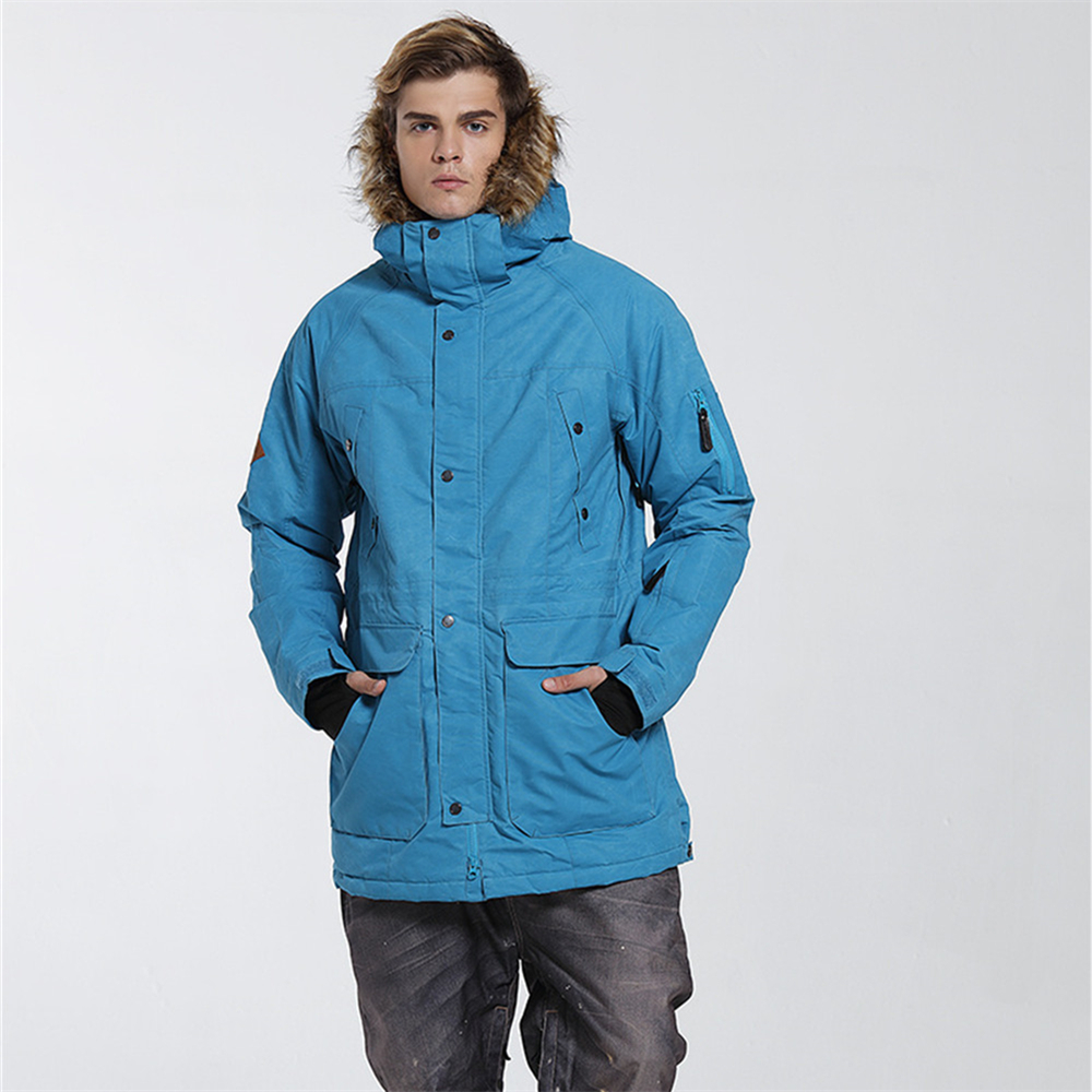 2018 Men's Ski Jacket Thermal Warmth Snowboarding Jacket Breathable Plus Size Sports Jacket For Camping Snowing Free Shipping