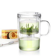 Heatproof Hand blowing Separate Type Glass Mug and Tea Filter High Quality
