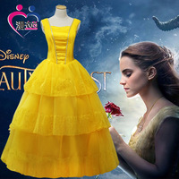 Beauty and the beast cos belle princess dress cosplay costume female adult 2017 new product reality TV version