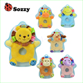 1pcs Sozzy multifunctional baby animal handbell round handbarrows baby rattles, baby educational hand bell toys