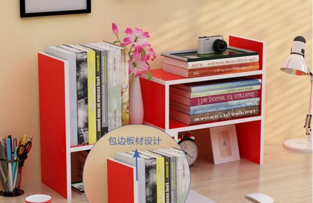 Eco Friendly Small Bookcases Desk Bookshelf Office Bookcase Portable Shelf  Three Kinds Of Modeling