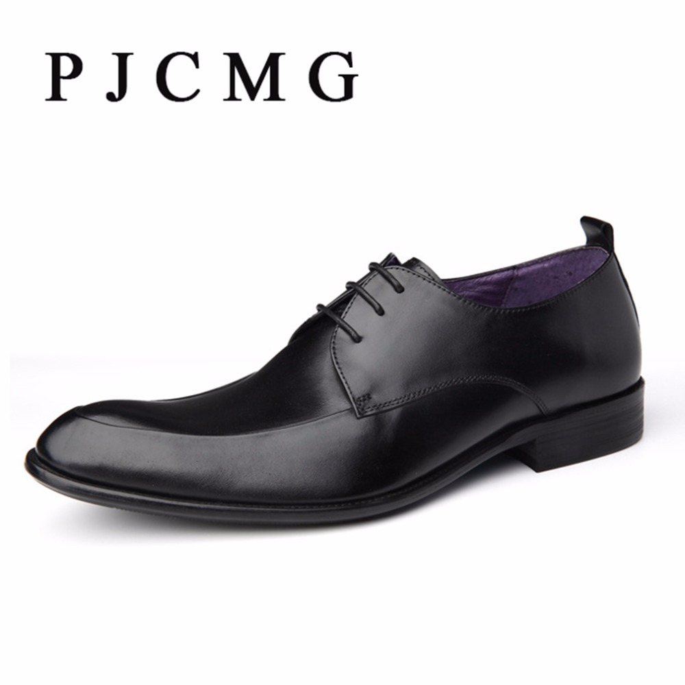 ФОТО 2017 Fashion Italian Luxury Mens Shoes Casual Oxfords Black Red Lace-Up Designer Genuine leather Men Flats Office Wedding Shoes