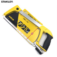 Stanley 1pc hand hacksaw w/ high speed steel blades HSS 300mm rubber grip metal cutting saw for wood steel aluminium plastic etc