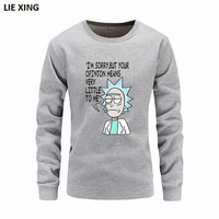 Hip Hop Hoodie Rick And Morty Sweatshirts Men 2018 New Hot Selling Pure Cotton Freestyle Men