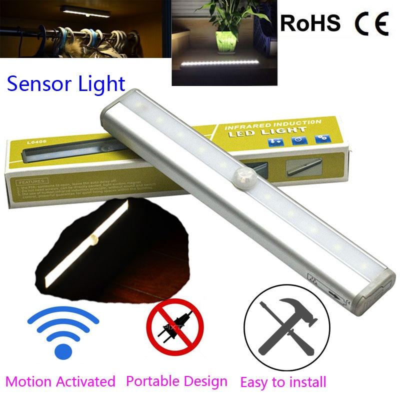 10 Led Wireless Pir Auto Motion Sensor Light Intelligent
