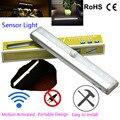 10 led infravermelho pir auto motion sensor de luz sem fio inteligente portátil luzes da noite da lâmpada de indução para o armário armário do hotel