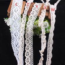 3yard/lot Knitted Cotton Lace Ribbon Beige Color DIY Elastic Polyester/Cotton Scrapbooking Sewing Accessories B