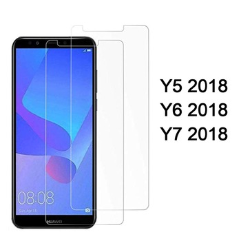 protective glass for huawei y5 2018 screen protector tempered glas for huawei y5 y6 y7 prime 2018 protect film on 5y 6y 7y y 5 7 image