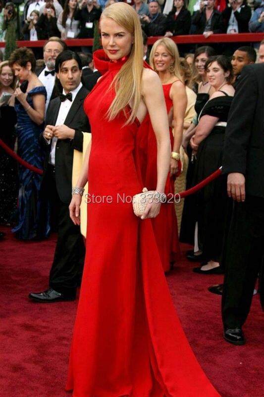Nicole Kidman Red Halter Formal Dress Oscar Awards 2007 Red Carpet (3)