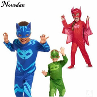 PJ Masks Owlette Carnival Cosplay Costume For Kids Children Superhero Cape Birthday Party Cosplay Costume For