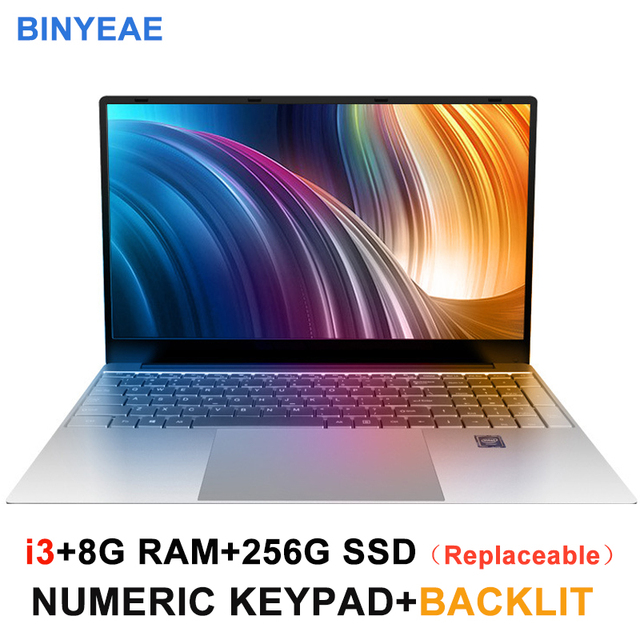 Core i3 Laptop 15.6 inch With 8G RAM 128G Hard Disk Gaming Laptops Computer With Backlit Keyboard IPS Display Notebook Win10 OS