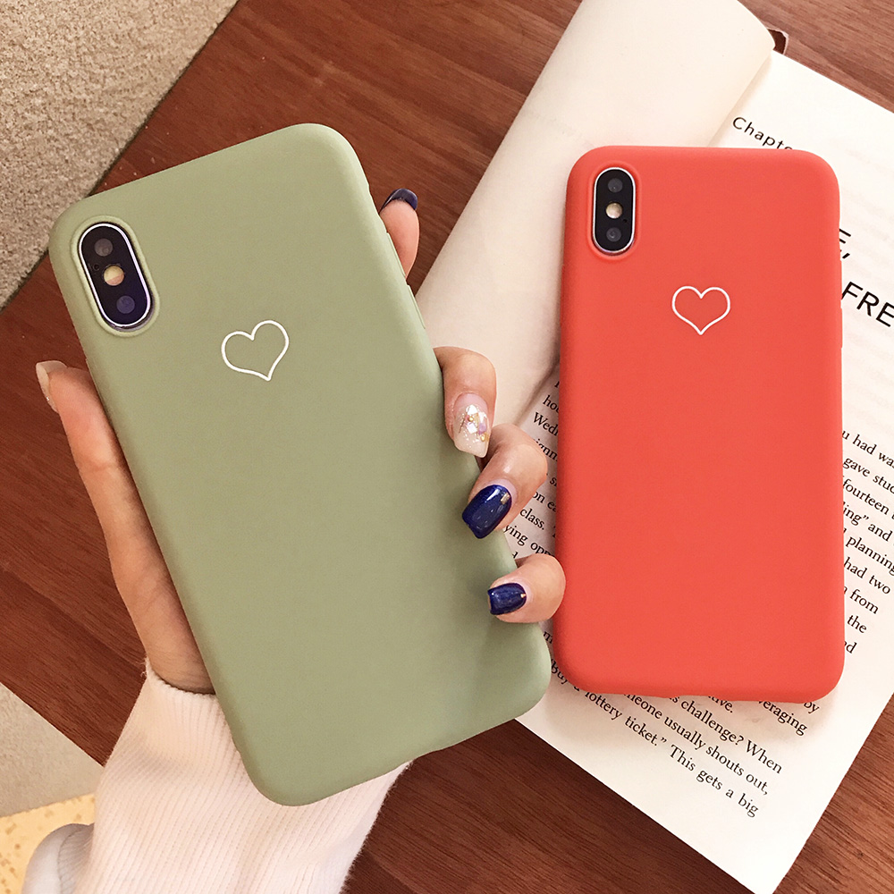 KIPX1091_2_JONSNOW Phone Case For iPhone XS XR XS Max  6S 7 8 Plus Couples Style Love Heart Pattern Soft Silicone Case Capa Fundas