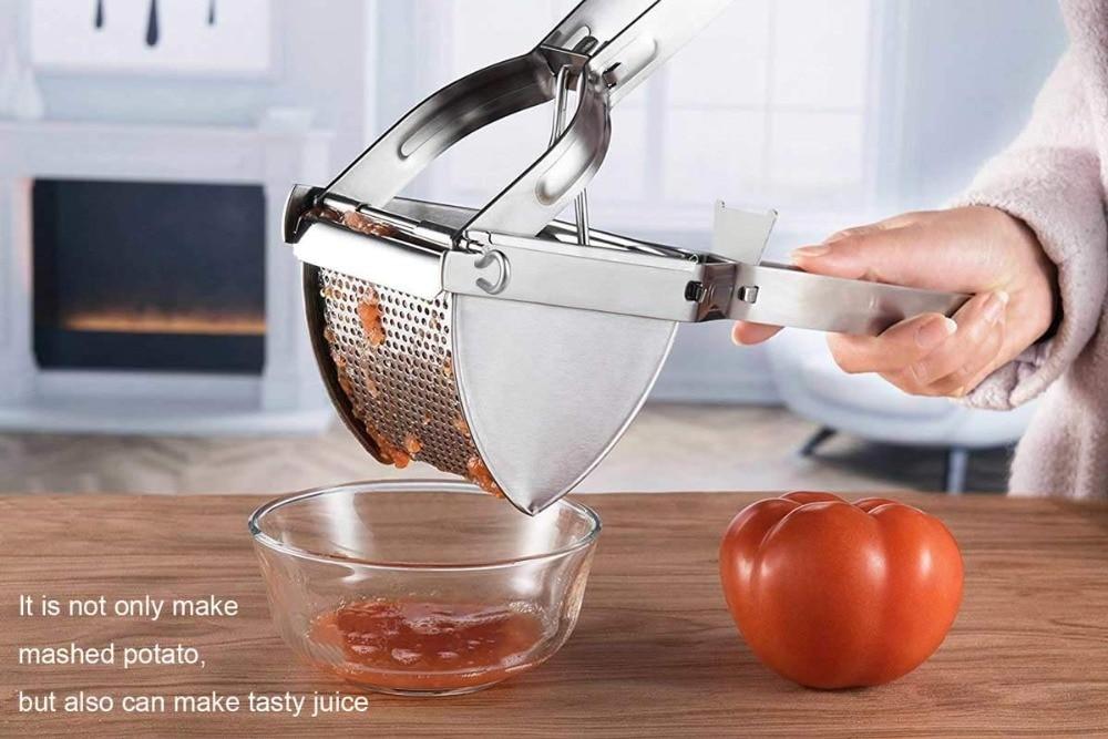 Stainless Steel Mash Potato Ricer Masher Fruit Press Professional Kitchen Tools