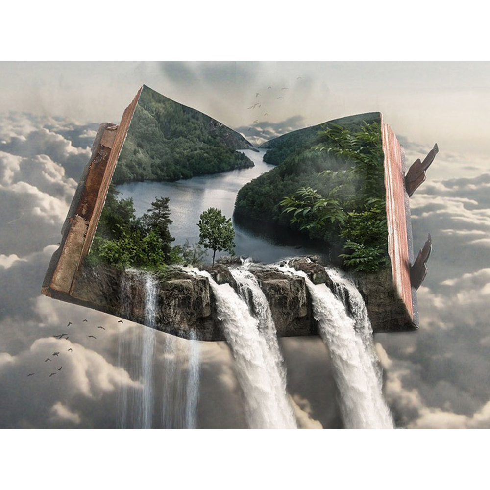 Diamond Painting Scenery Picture Of Rhinestone Diamond Embroidery Landscape  Mosaic Kit Book Waterfall Home Decorations a731 - buy at the price of $2.15  in aliexpress.com | imall.com