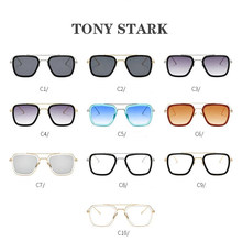 Fashion Avengers Tony Stark Flight Man Sunglasses Keychain Men Design Sun Glasses Oculos Retro Iron Man Key Chain Car Jewelry(China)