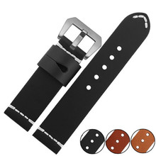 24mm Handmade Italian Genuine Leather Watch Band Strap Watchband Strap for PAM And Buckle Clasp