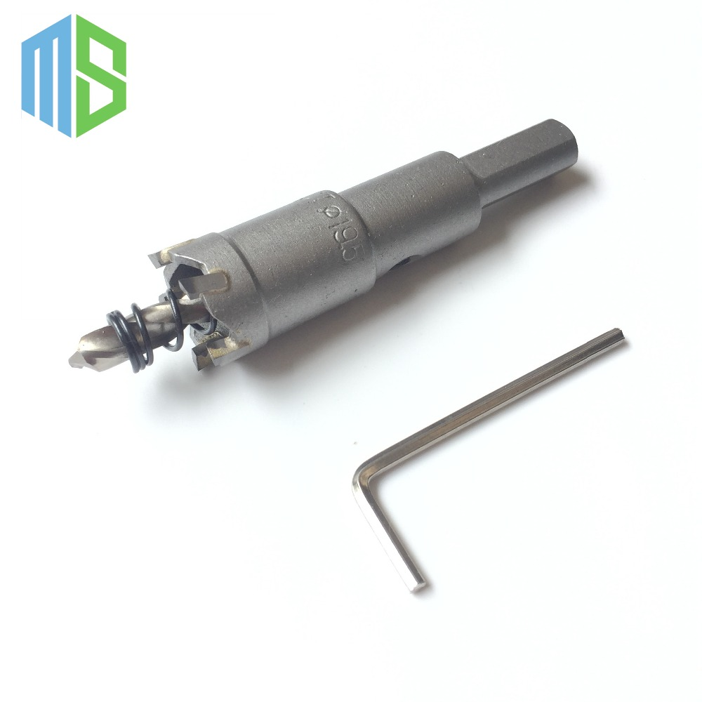 19.5mm Metalworking tungsten Carbide Tip Drill Bit TCT Hole Saw Set for Stainless Steel Metal Alloy Drilling