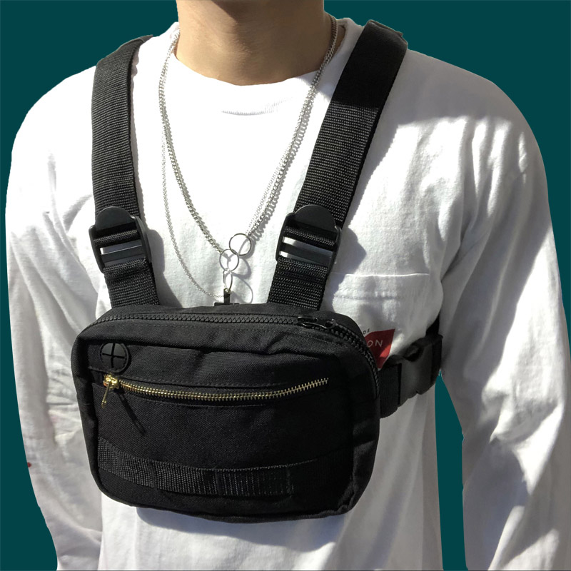 Men Chest Ring Men Chest Bag Boy Tactical Vest Backpack Fashion Waist Bag Male Fanny Pack Boy Waistcoat Bags 030373