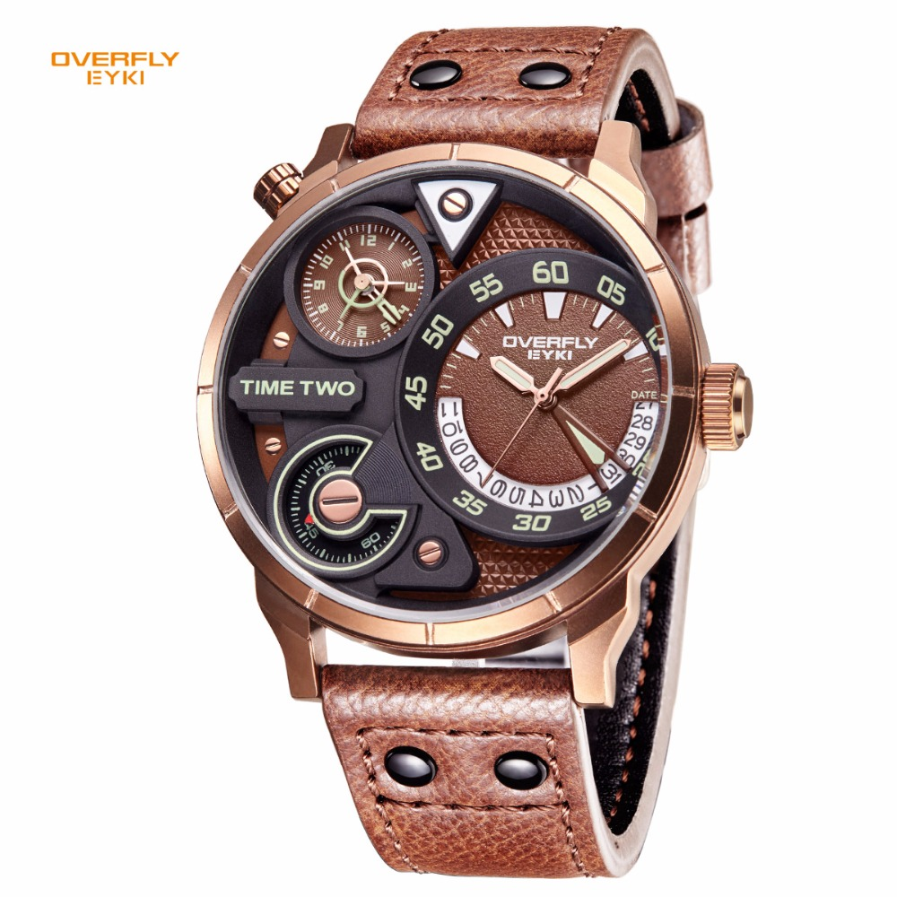 EYKI Super Big Multilayer Stereoscopic Dial Two Time Zone Display Fashion Sport Watch Men Waterproof Luminous Brand Watch E3065EYKI Super Big Multilayer Stereoscopic Dial Two Time Zone Display Fashion Sport Watch Men Waterproof Luminous Brand Watch E3065