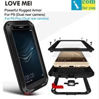 Original LOVE MEI For Huawei P9 Plus Powerful Case Waterproof Shockproof Metal Aluminum With Gorilla Glass