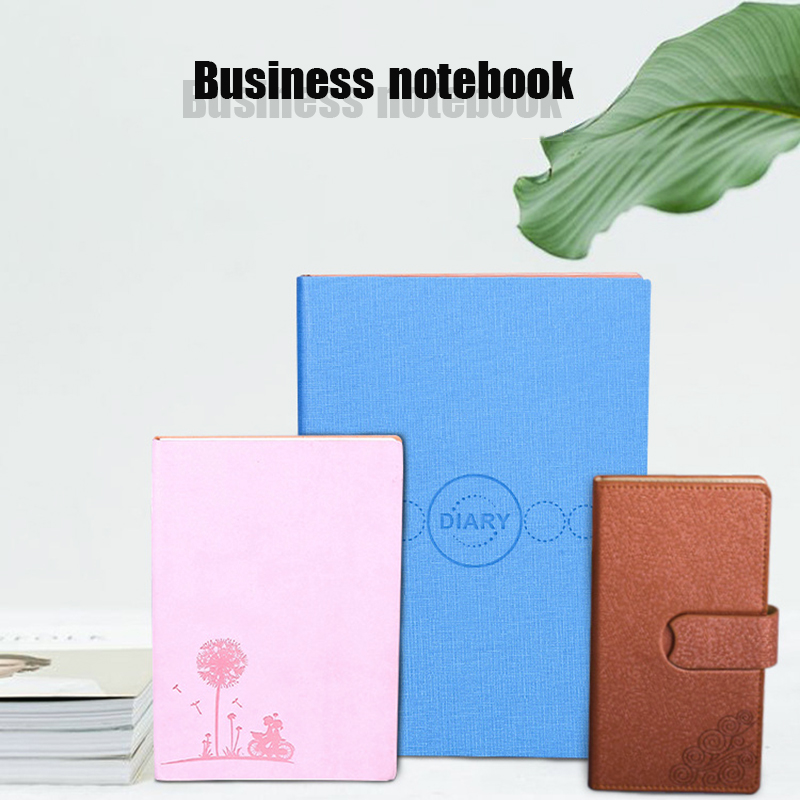 Pu Leather Business Custom Logo Planning Notebook Travel Diary Magazine Journal Planning School Office Student Stationery Sketch