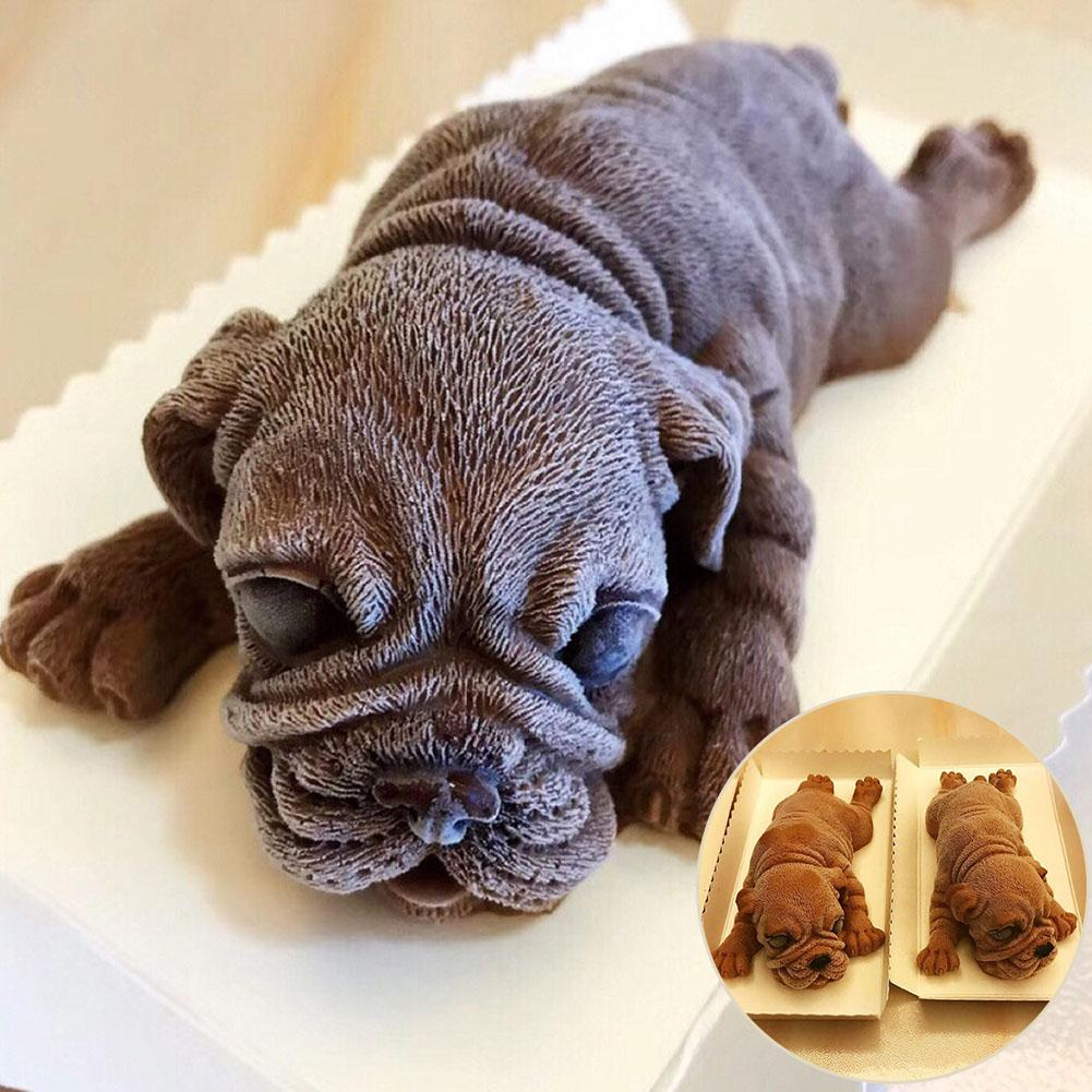 3D Shar Pei Dog Cake Mousse Chocolate Mold Decorative Cookie Biscuit Baking Tool Useful