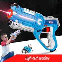 CS Playing Digital Electric Guns Toy Laser Tag With Flash Light Sounds Effect Shooting Game Xmas Birthday Toys For Children Boys