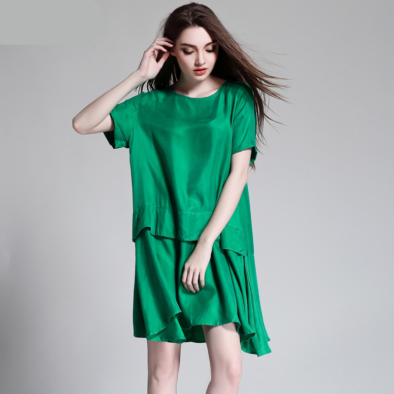 robe femme 2017 casual women summer party lady fat large big plus size green dress vestido de. Black Bedroom Furniture Sets. Home Design Ideas