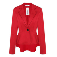 Novelty Red Uniform Style Spring Autumn Professional Business Women Blazers Jackets Female Work Wear Coat Tops