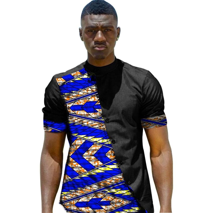 African Print Men S Summer Tops Short Sleeve Men Shirt Fashion Patchwork Oblique Placket Design Dashiki Africa Clothing Shop Dashiki,Transitional Design Style Bedroom