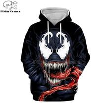 PLstar Cosmos marvel Movie Spiderman Venom Villain Skull Tee 3D Print Hoodies/Sweatshirt long sleeve Unisex Good Quality Top-4