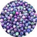 Круглые стеклянные бусины 4/6/8/10 мм, широкие разделенные бусины для самостоятельного изготовления браслетов, сережек, шармов, ожерелий, SHS218