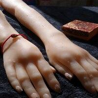 Силиконовый длинный женский руки, секс кукла, настоящая кожа, Реалистичная манекен руки, кольцо дисплей сексуальные руки H04