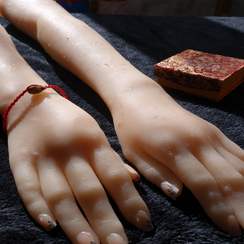 Silicone Long <font><b>Female</b></font> Hands,<font><b>Sex</b></font> <font><b>Doll</b></font> Real Skin,<font><b>realistic</b></font> mannequin hands, ring display Sexy Hands H04 image