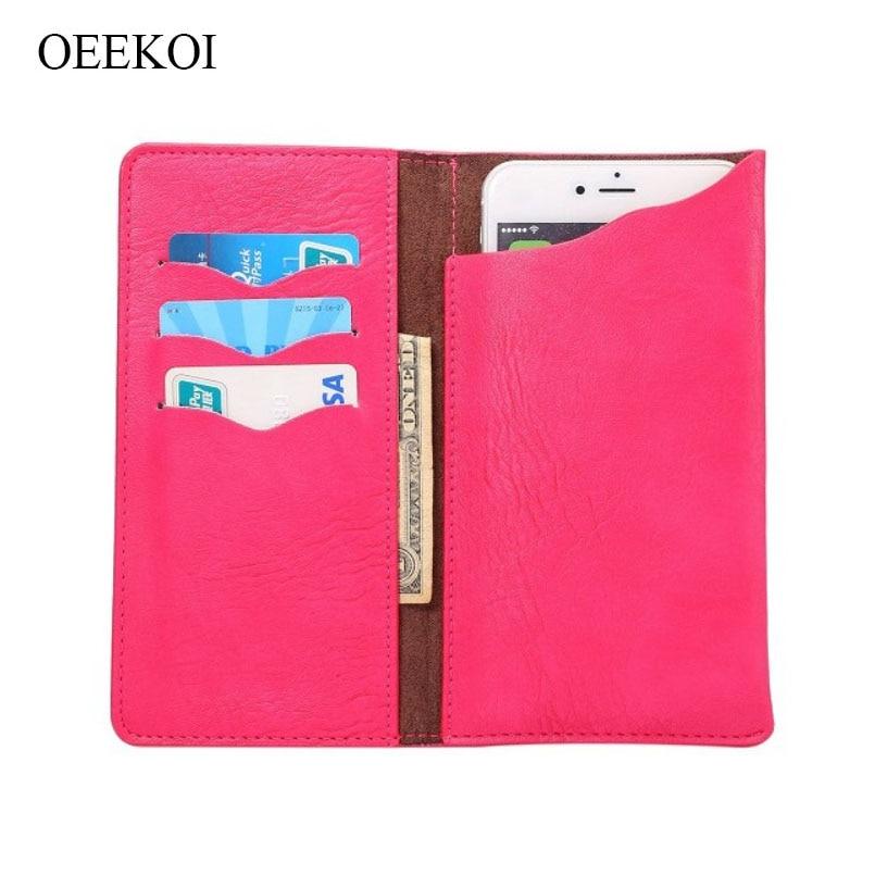 OEEKOI Universal Elephant Pattern Leather Wallet Pouch Case for Oukitel U18/K5/K8000/Mix 2/K5000/K3/U22/U11 Plus/K6000 Plus