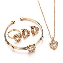 2019 New Wedding Jewelry Set Bridal Jewellery Crystals Neckl