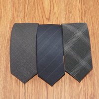 2019 New High Quality Wool Ties for Men Casual 6cm Slim Tie Commercial Necktie Retro Striped Wedding Tie Solid Color Gift Box