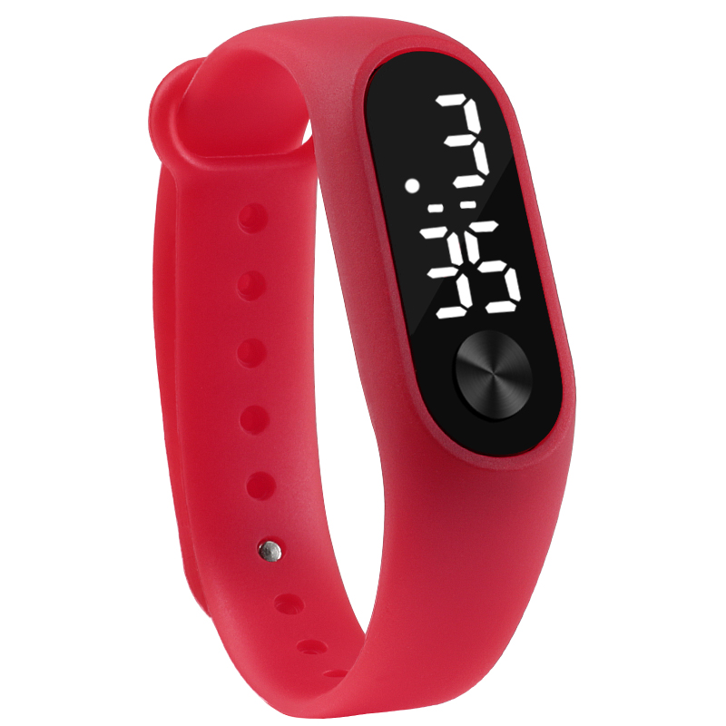 LED Electronic Digital Candy Color Sports Bracelet Wrist Watch for Kids 1