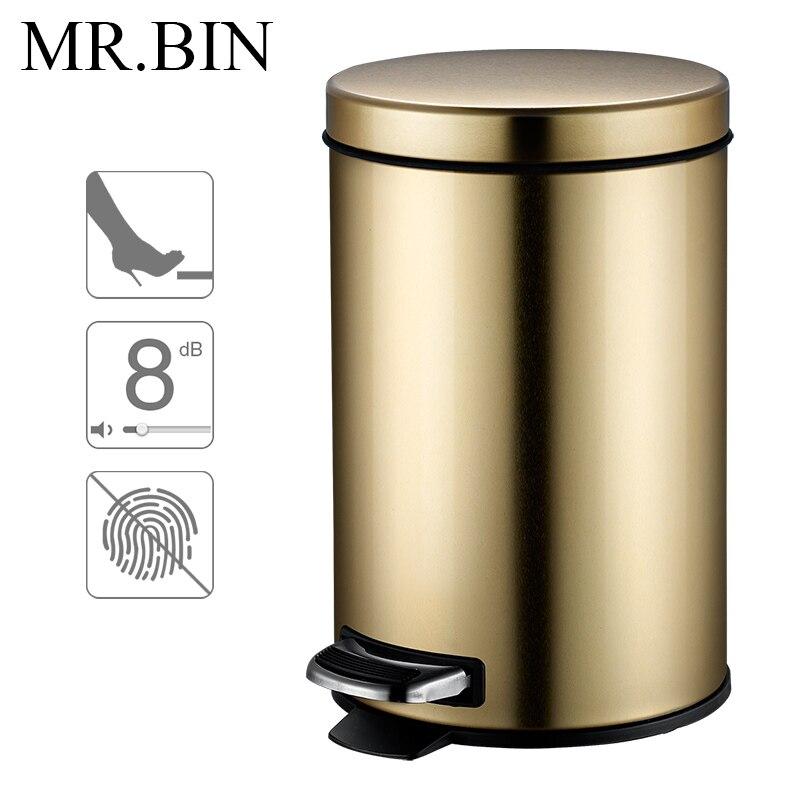 Uitgelezene MR. BIN Macaron 3.0 Prullenbak Rvs Voetpedaal Drukken Vuilnisbak CY-43