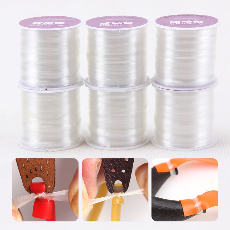 20m 1pc Rubber Band Tube Tie Rope For Slingshot Catapult Hunting Outdoor Shooting Accessories