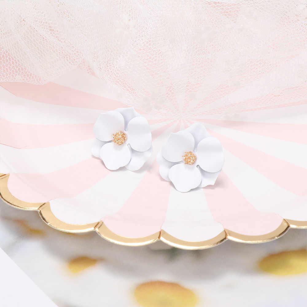 2019 New Boho ต่างหูดอกไม้สำหรับสุภาพสตรีสีสันเก๋โรแมนติกต่างหูชายหาดวันหยุดเครื่องประดับ